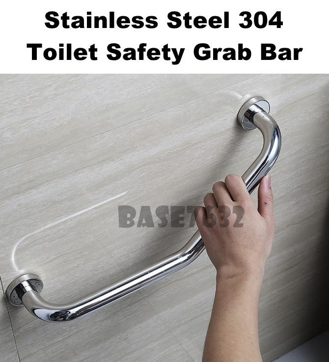 304 Stainless Steel  Bathroom Toilet Safety Grab Bar Handrail Handle