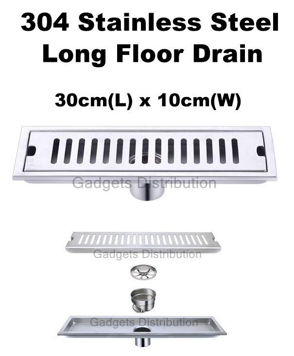 30cm 304 Stainless Steel  Odourless Anti Odour Long Floor Drain Cover