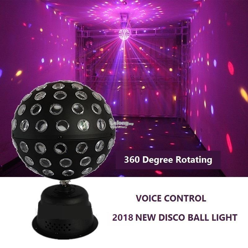 30w Rgb Voice Activated Disco Ball Light Led 360 Rotating Dj Stage Ktv