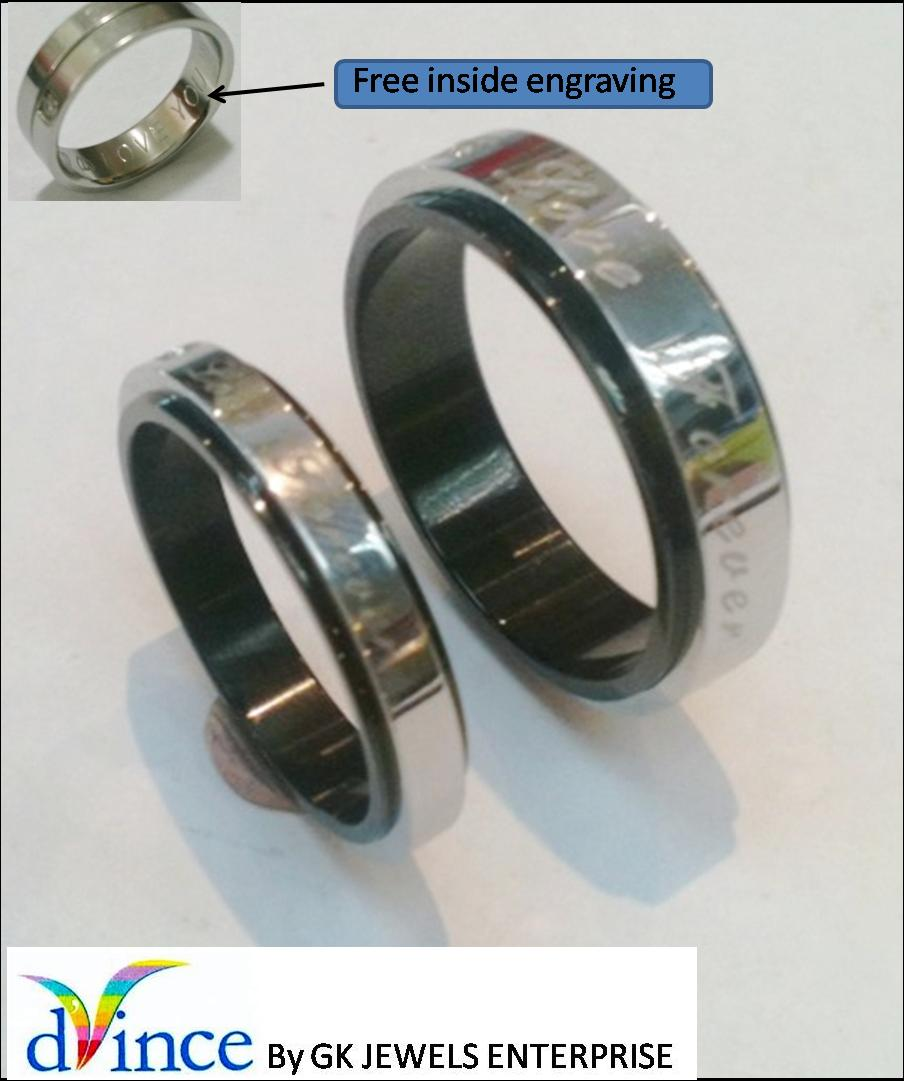316 stainless steel couple ring (per pair) #14