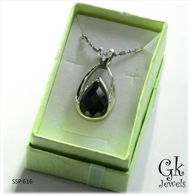 316 stainless steel Necklace SSP 616 (Onyx)