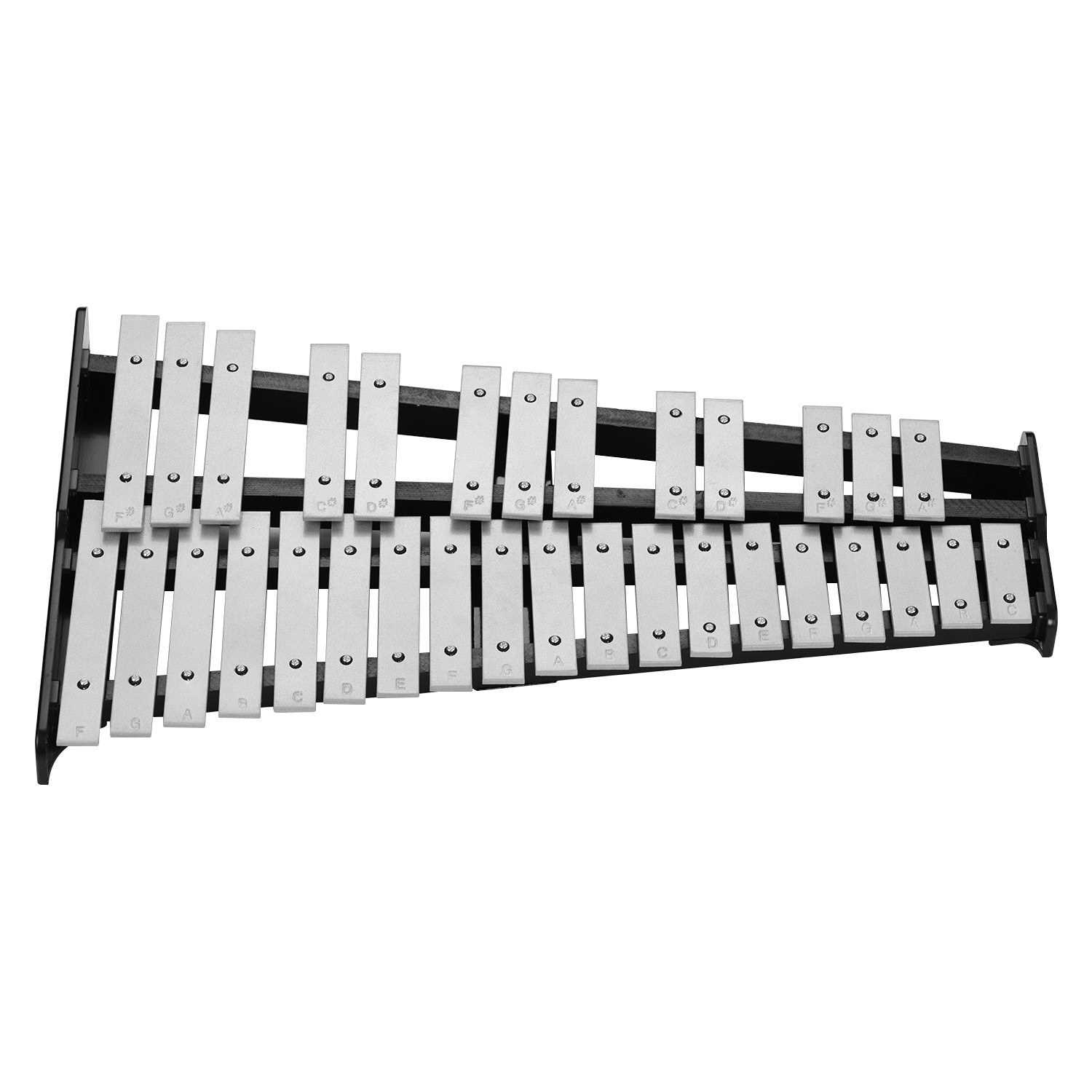32-Note Xylophone Educational Glockenspiel Wooden Base Solid Aluminum