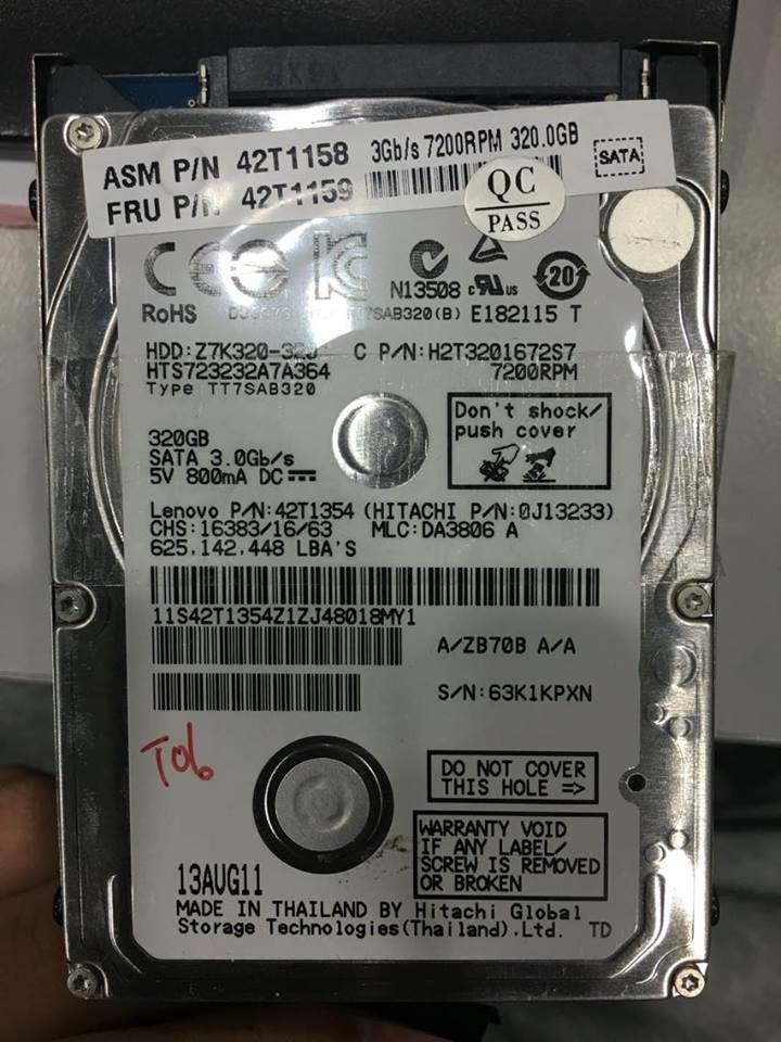 320GB SATA HDD 2.5' inch notebook hard drive hdd Used