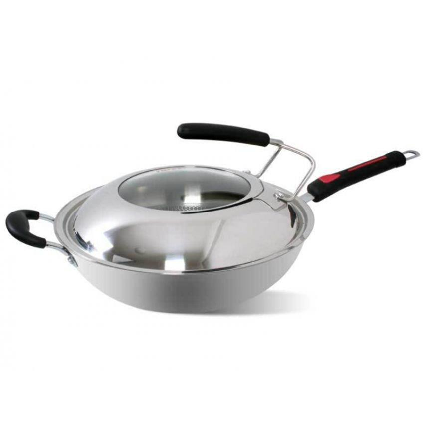 32cm Stainless Steel Wok Pan With Gl End 3242017 215 Pm
