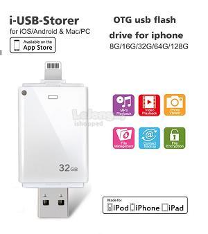 32G USB U Disk Flash Pendrive Memory Stick For Lightning iPhone iPad