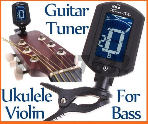 ET-33 Auto Digital Guitar, Chromatic, Bass, Violin, Ukulele  Tuner