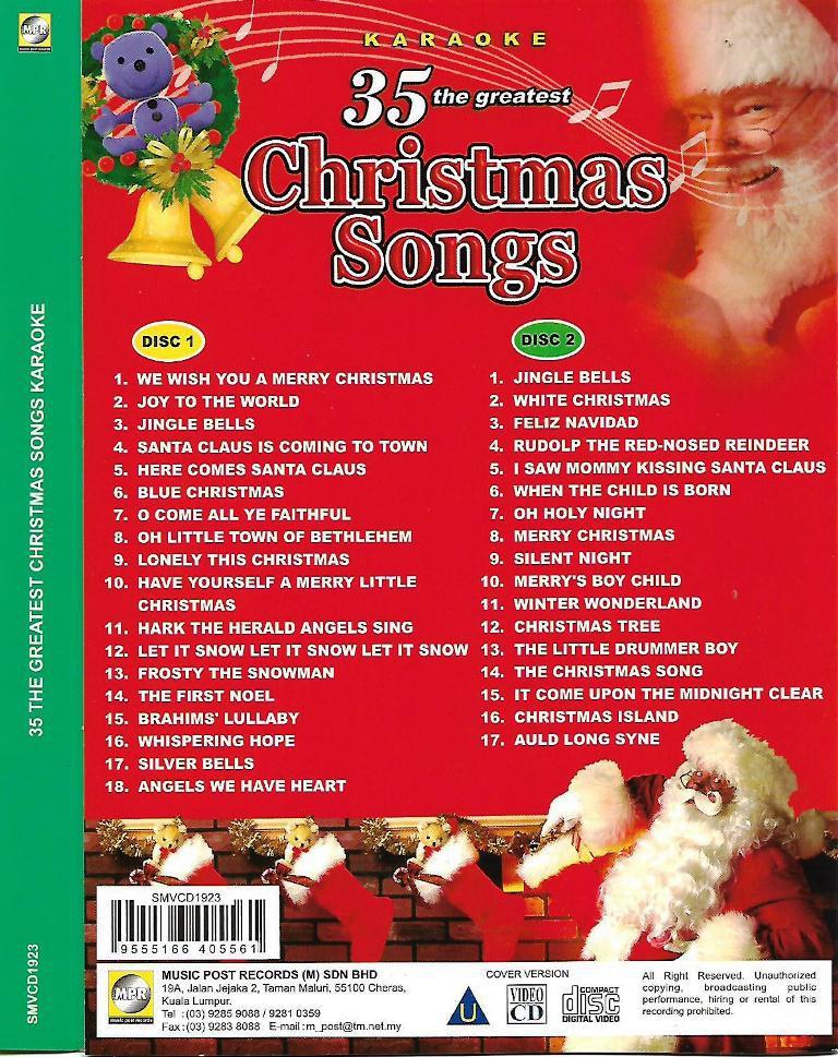 Karaoke Christmas Songs.35 Greatest Christmas Songs 2vcd Karaoke