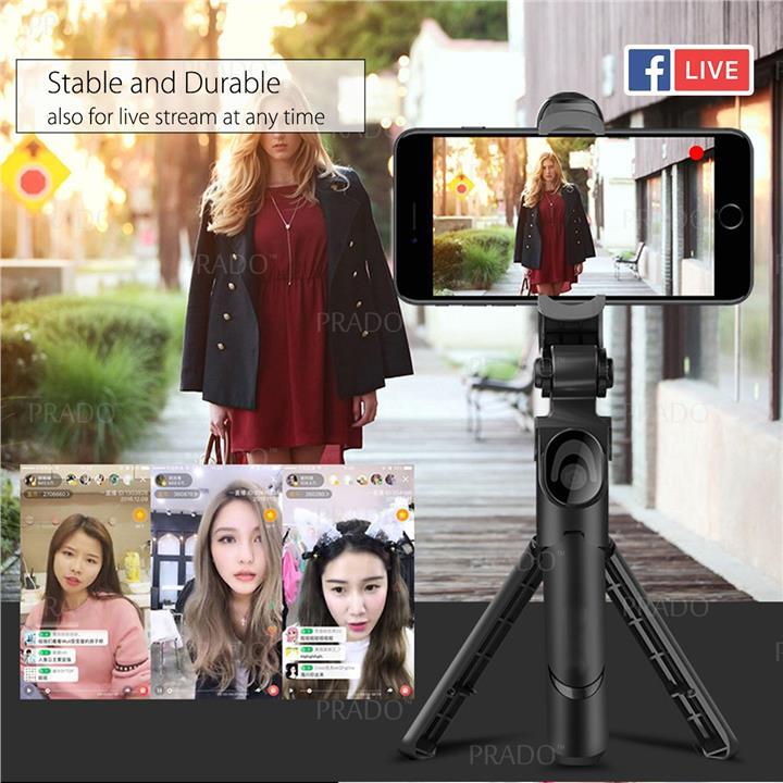 360 3 in 1 Bluetooth Selfie Stick Monopod Tripod