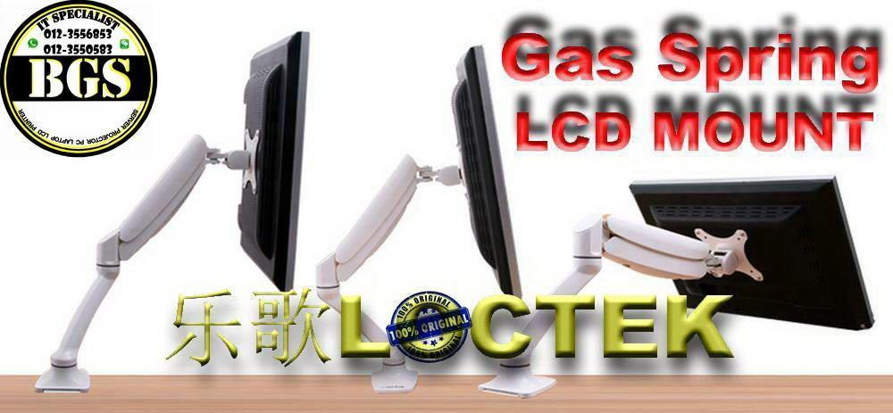 360 degrees Gas Spring Desktop Mount Bracket Lcd Led LOCTEK 10'~27'