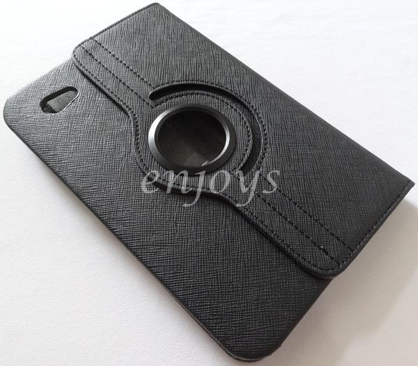 360 Rotate Leather Pouch Case Cover Samsung P1000 Galaxy Tab ~BLACK