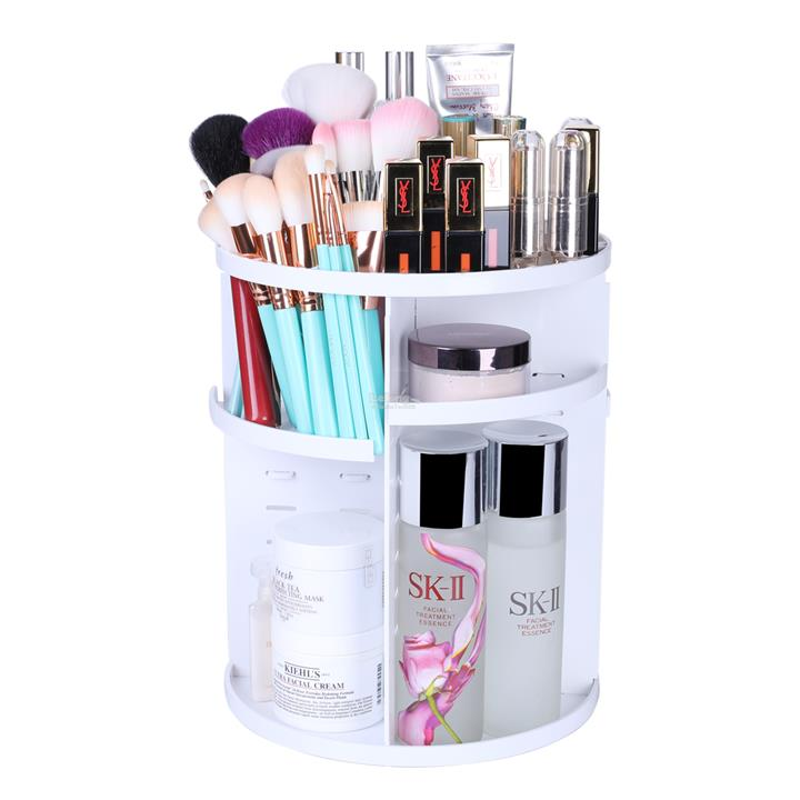 NEW 360° Rotating Makeup Organizer Cosmetic Storage Rack [WHITE]