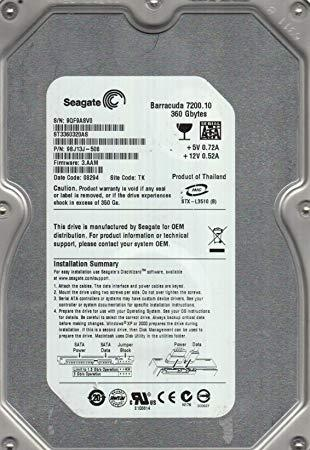 "360GB SATA 3.5"" Desktop Mix Brand Hard Disk Drive HDD"