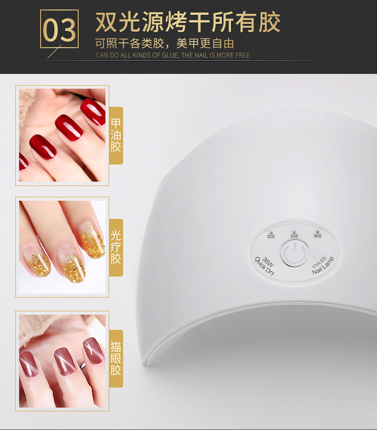 36W Cure Lamp Dryer UV Gel Nail Sta (end 9/11/2020 12:54 PM)