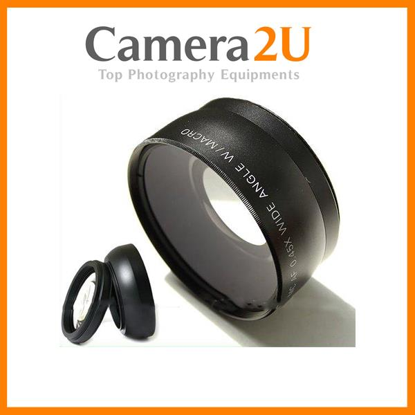 37mm HD PRO 0.45x Wide Angle + Macro Converter Lens (49mm UV)