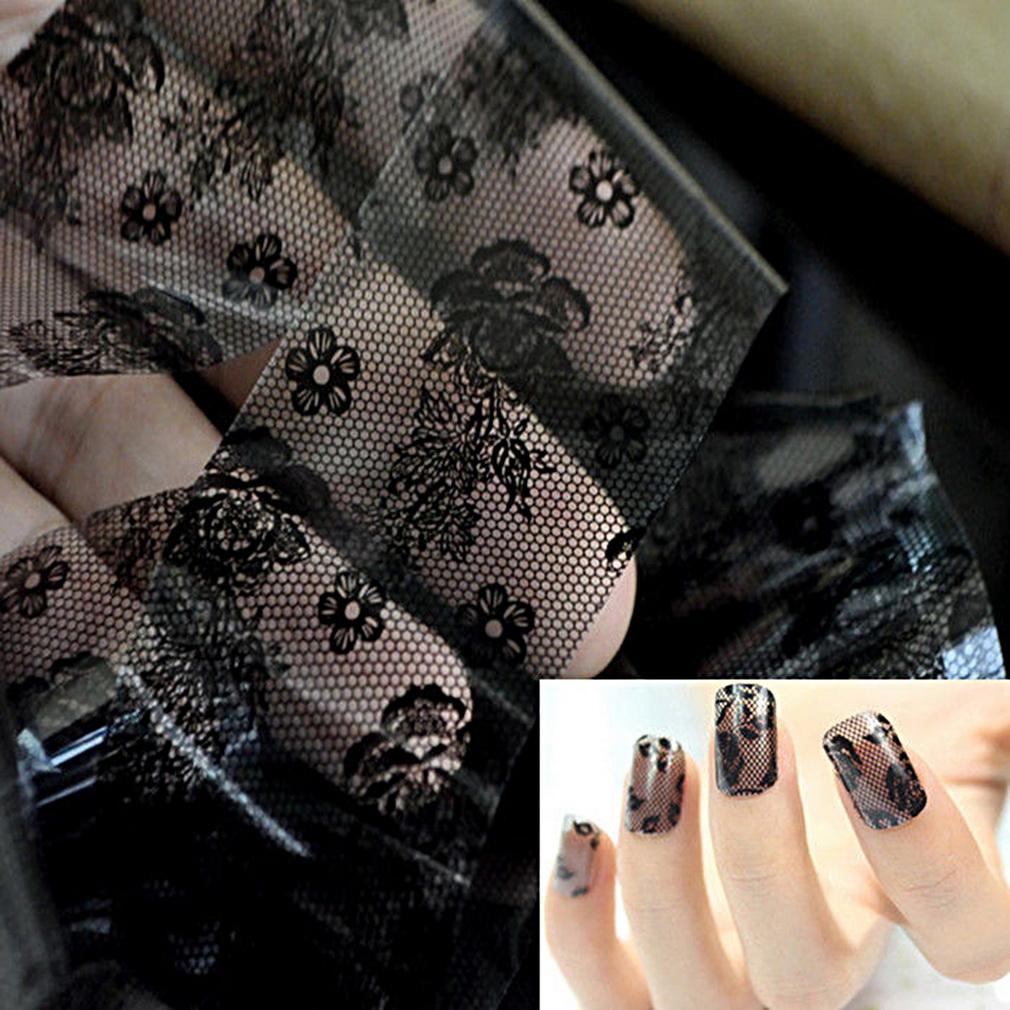 3d Black Lace Nail Art Foil Sticker End 8282019 1135 Am