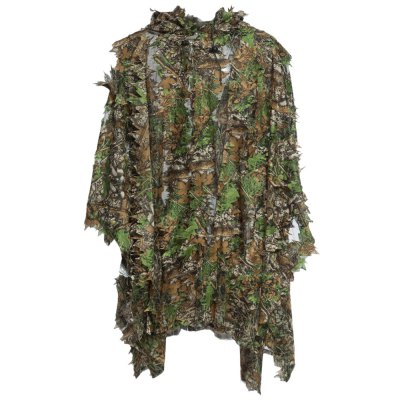 3D Camo Bionic Leaf Camouflage Jungle Hunting Ghillie Suit Set Woodlan..