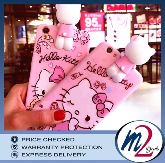 3D CARTOON CUTE HELLO KITTY SILICONE CASE   OPPO A57/A39/R9S/R9SPLUS