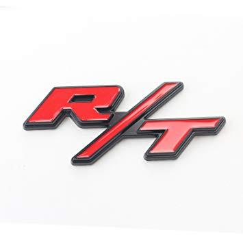 3D Chrome Red RT Metal Emblem Badge Fender Trunk Sticker
