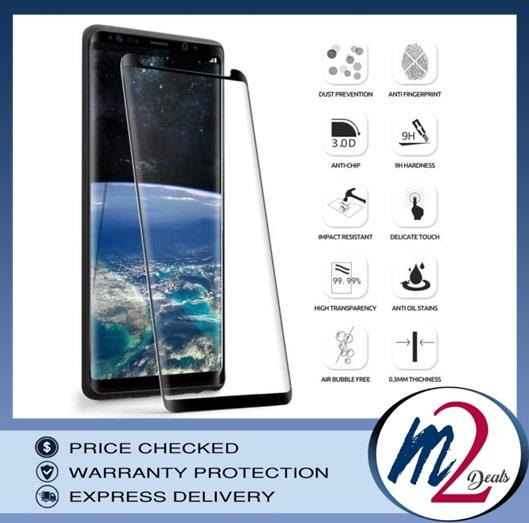 3D Curved Full Cover Tempered GlassFor Samsung Note 9 (BLACK)