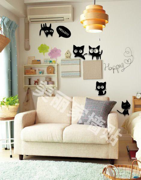 3D DIY Home Deco Wall Deco HELLO CAT Arcylic Plastic Sticker Gift Pres
