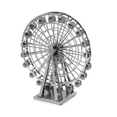 3D DIY Laser Cut Models Metallic Nano Puzzle - Ferris Wheel 1:350