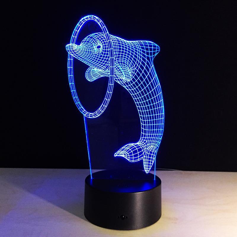 5v Lights Dc Usb 7 Rechargeable Dolphin Led 3d Rgb Illusion Light Lamp FK3l1cTJ