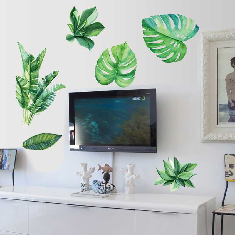 3d green leaf wall sticker for bedro (end 3/28/2019 6:39 am)