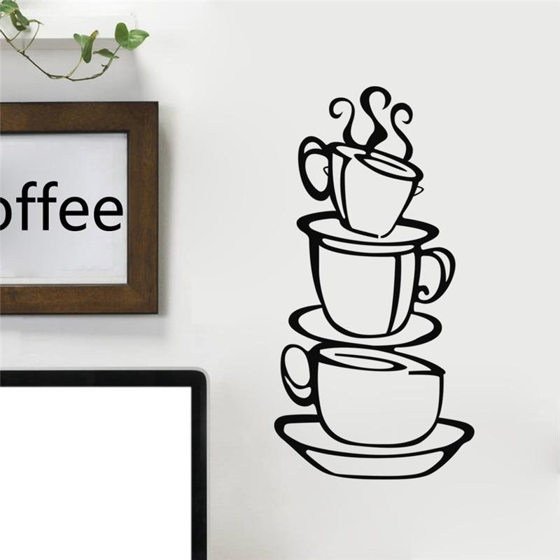 Vinyl 3d Muursticker.3d Koffie Cups Creative Muurtattoo Ve End 5 9 2019 2 40 Pm