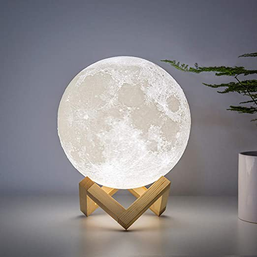 3D LED Moon Light Lamp Lunar USB Charging Touch Control Night  - [8CM]