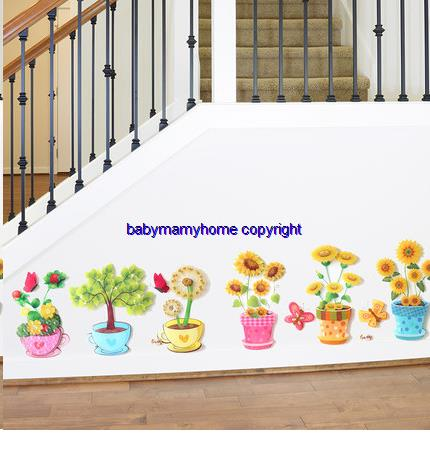 3D Multi Layer Living Room Bedroom Stair Decorations Wall Stickers
