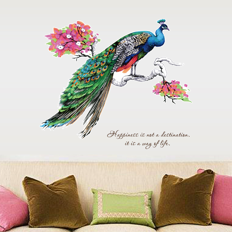 3d peacock wall sticker for living r (end 3/28/2019 6:39 am)