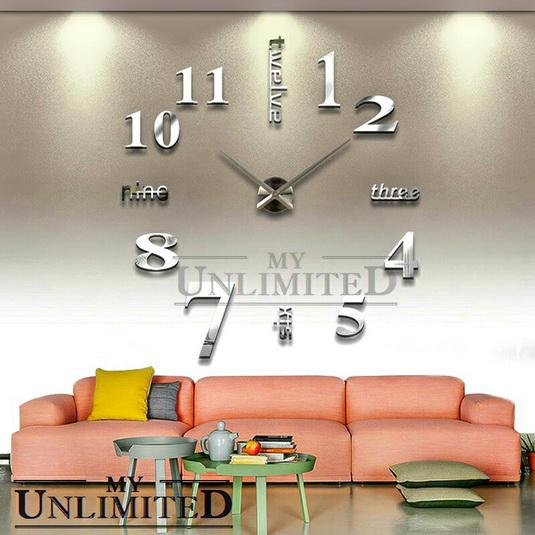 3d premium art decor big wall clock