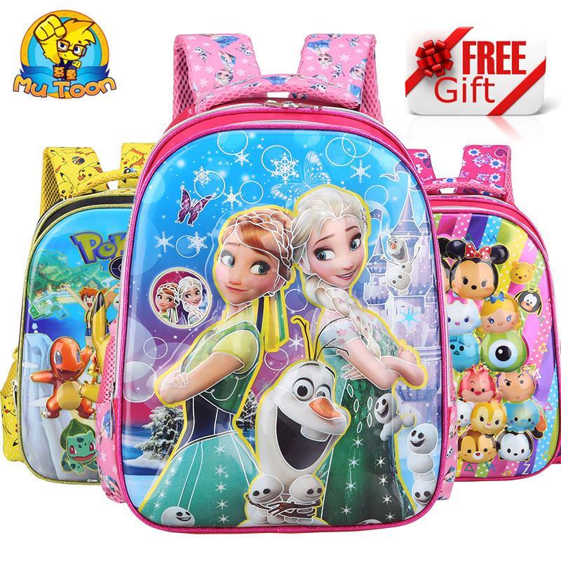 a50648dba 3D Preschool Backpack Kindergarten Nursery School Kids Children Bag