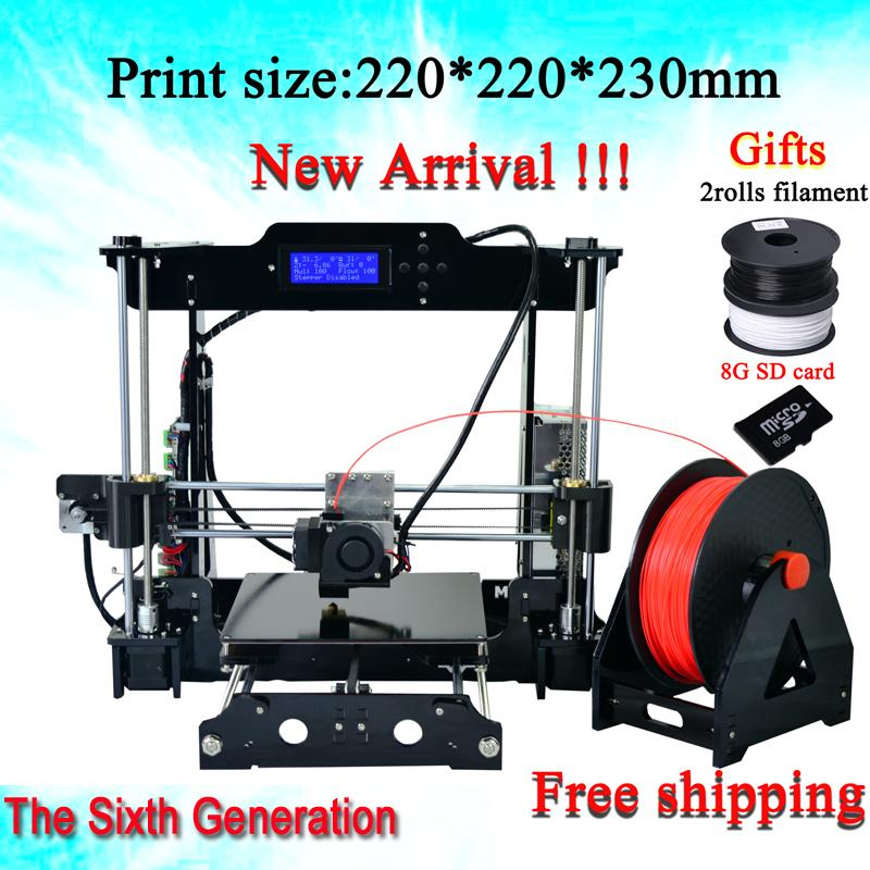 3D printer Reprap Prusa i3(2 Rolls Filament 8GB SD card and LCD gift)