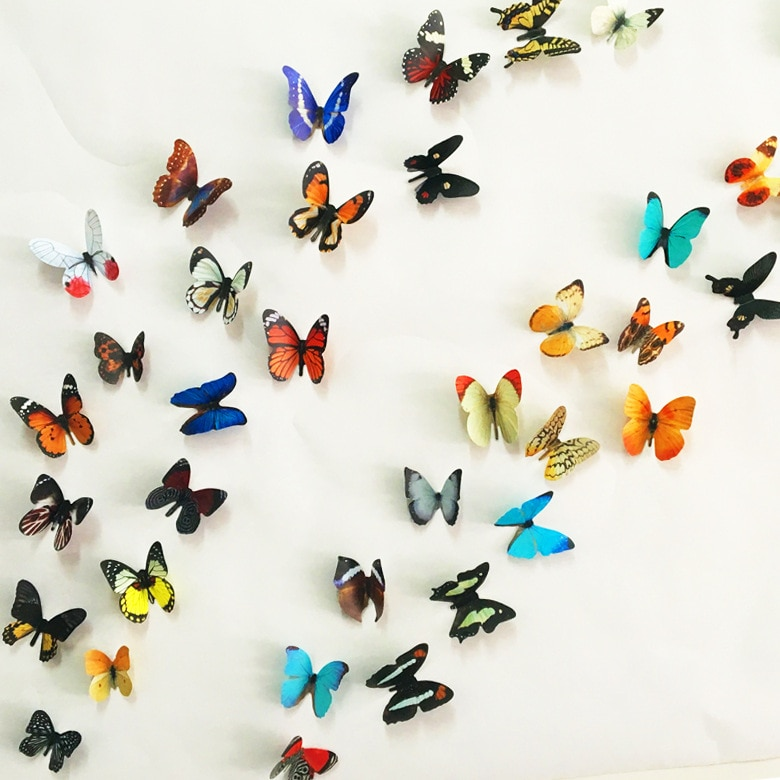 3d pvc butterfly wall stickers home (end 3/12/2019 2:20 pm)