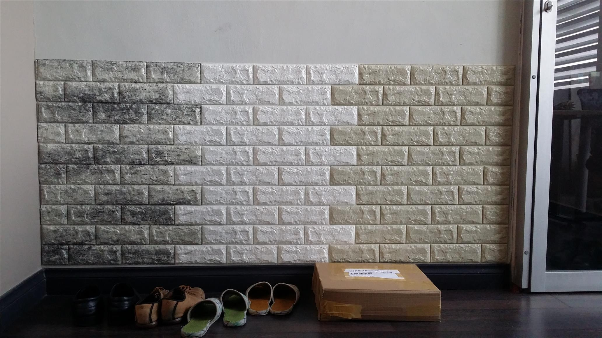 3d real foam brick block wall cover end 5 18 2017 10 05 pm for Foam block wall construction