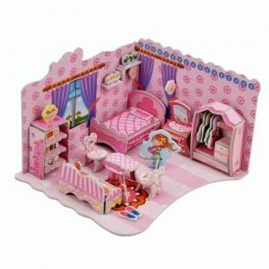 3D Super Puzzle - Bedroom