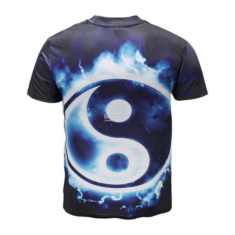 3D Tai Chi Yin Yang T-shirt Short Sleeve Shirt