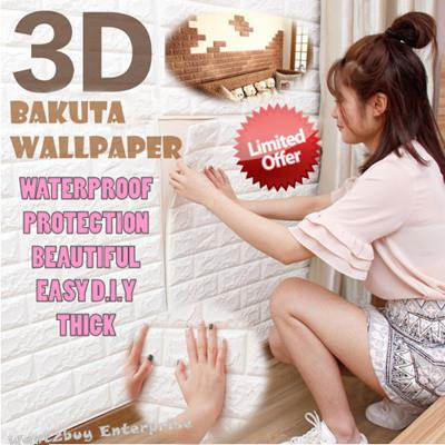 New 3d Wallpaper Brick Design Foam Diy Home Decor Self Adhesive