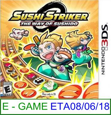 3Ds PREORDER Sushi Striker The Way of The Sushido ★Brand New & S..