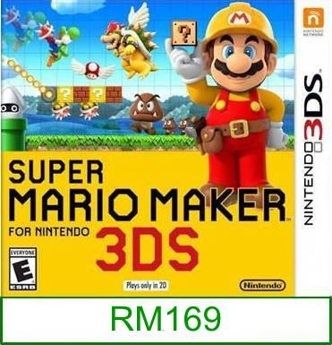 3Ds Super Mario Maker [US/Asia] ★Brand New & Sealed★