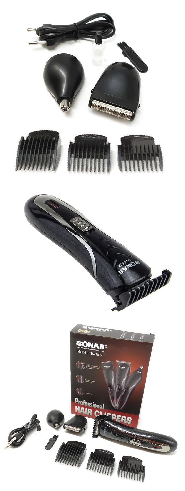 3IN1 SONAR Professional Hair Trimmer Clipper Shaver Head Nose Beard