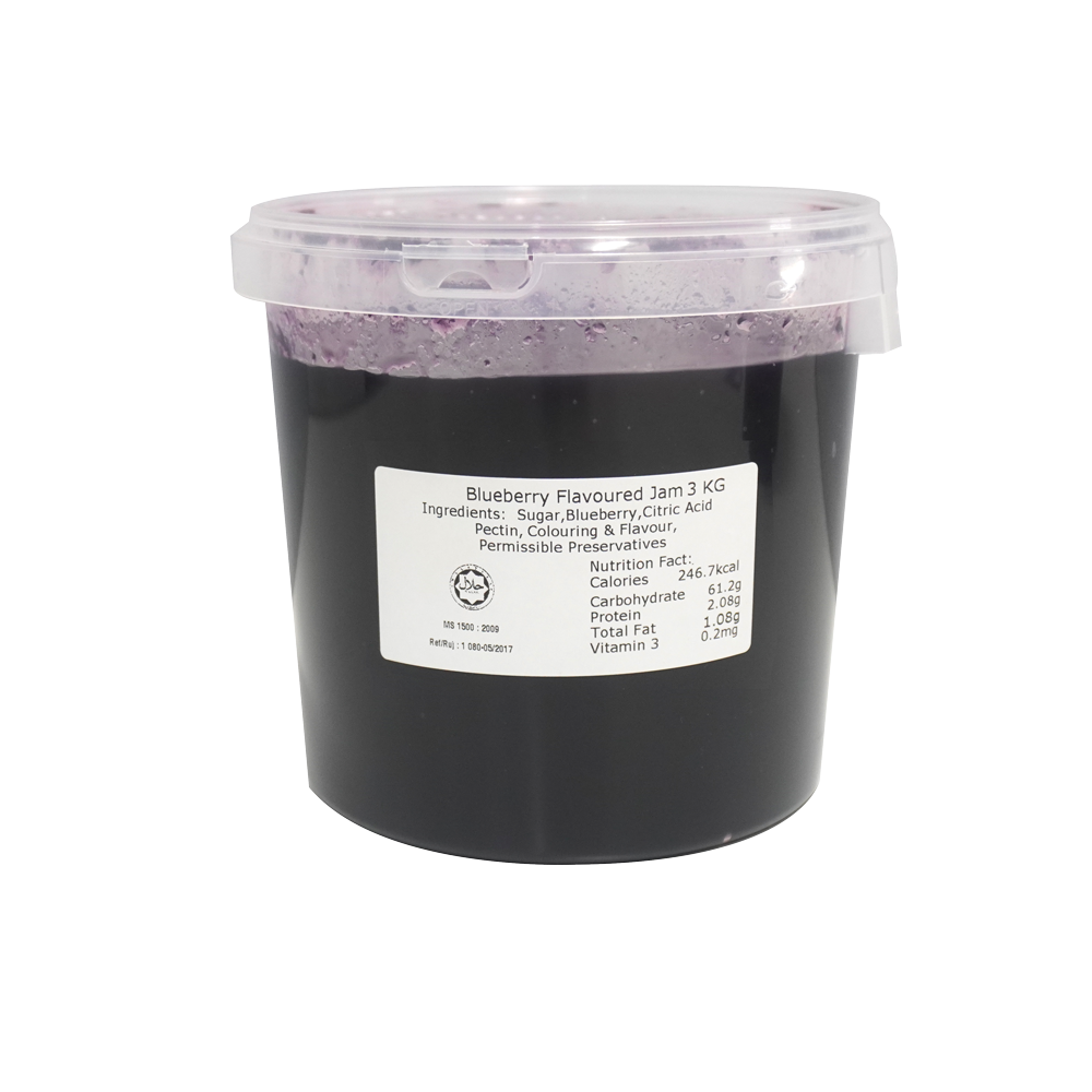 3KG Blueberry Spread Premium Choice Paste Desserts Waffle Baking Cake