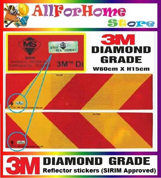 3m Diamond Grade Reflector Sticker Jpj Sirim Approved