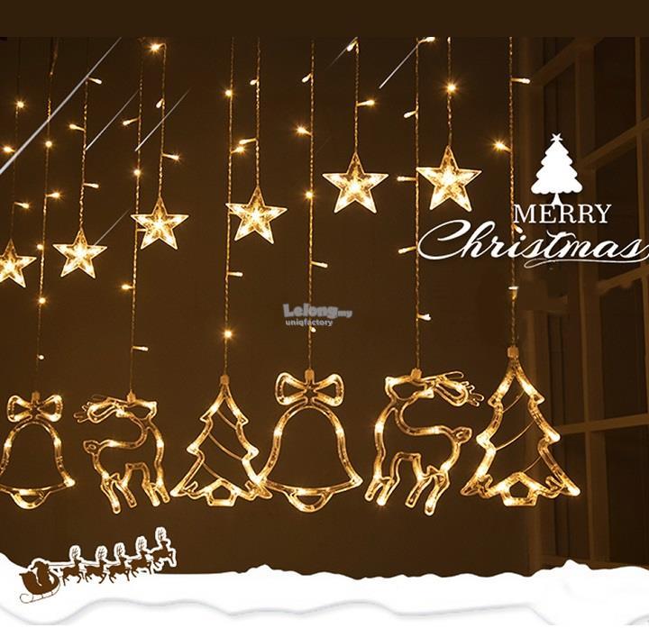 3m Led Star Bell Deer Christmas Tre