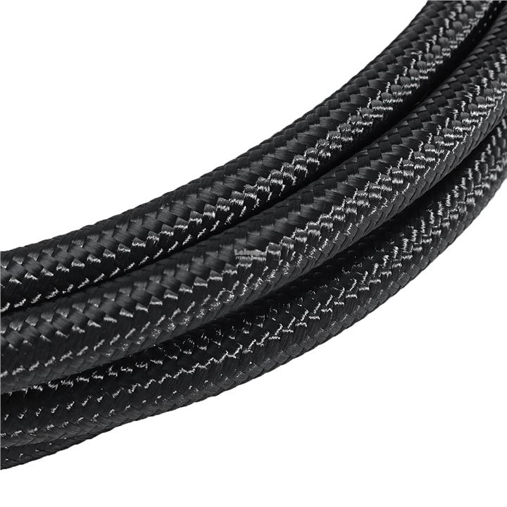 3m Long AN6-6AN Nylon Braided Hose Black Stainless Steel Oil Fuel Line