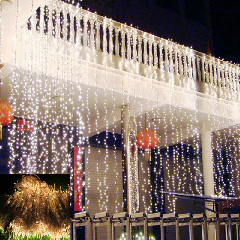 3m Party String Cafe Home Wedding Propose Curtain LED Light 220V