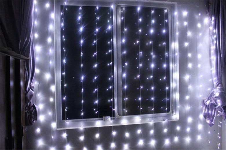 3m Party String Cafe Home Wedding Propose Curtain LED Light 220V raya