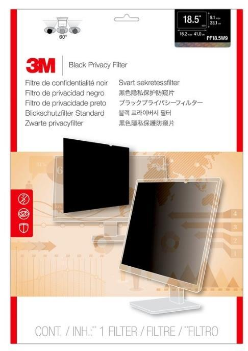 3M PRIVACY SCREEN FILTER 18.5' 16.2' X 9.1' (PF185W9B)