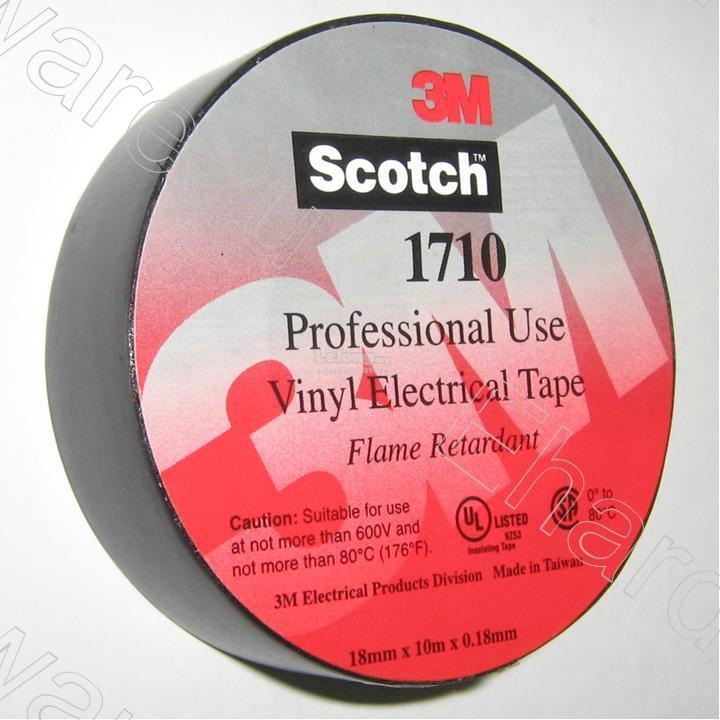 3M Pro Vinyl Electrical Tape 18mm x 10M (3M1710)